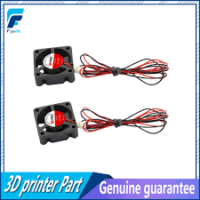 2pcs mini small dc cooler cooling fan 24v 35mm x 10mm 3510s 2pin 5 blades