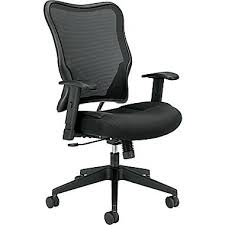 basyx by hon bsxvl702mm10 vl702 sandwich mesh high back office chair with adjustable arms aesthetic hon office chairs