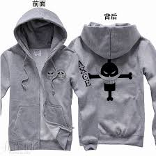 Anime <b>One piece</b> White beard Portgas D Ace Hooded Sweatshirt ...