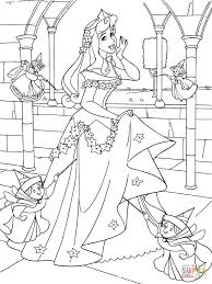 Small Picture Princess Aurora Loves Christmas coloring page Free Printable