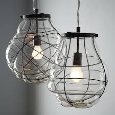 organic blown glass pendant west elm blown glass pendant lighting