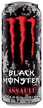 <b>Энергетический напиток</b> Monster Energy <b>Black</b> Assault — купить ...