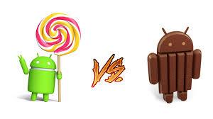 Hasil gambar untuk android kitkat dan lollipop
