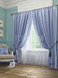 Комплект штор «Бурт (голуб.)» | Идеи домашнего декора, Для ...