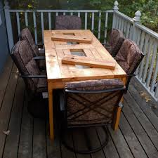 patio table fence boards great solution stunning ideas for outdoor table tops in addition to build a