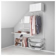 АЛЬГОТ Настенная шина/полки/<b>вешалка д</b>/<b>брюк</b> - белый - IKEA