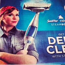 swiffer ad uses rosie the riveter to encourage women to clean the swiffer ad uses rosie the riveter to encourage women to clean the kitchen photo the huffington post