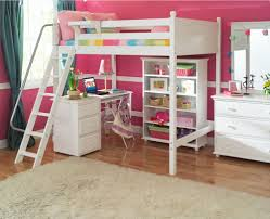 kids girl room in pink bunk beds kids dresser