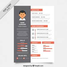 resume vectors  photos and psd files   free downloadgraphic designer resume template