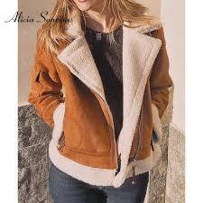 <b>Women Short Faux</b> Sheepskin Coat New 2017 Winter Warm Thick ...