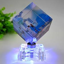 Pictures Frame <b>Square Shaped Rotating</b> Crystal Printing Photo ...