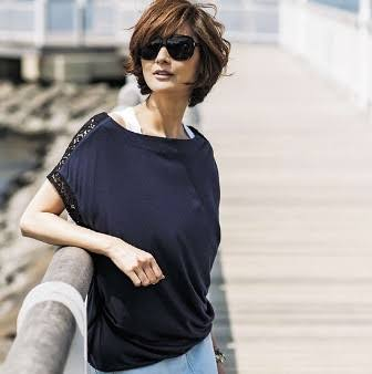 サングラスの富岡佳子