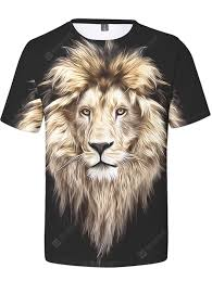 <b>Creative</b> 3D Lion Print <b>Men's Short Sleeve</b> T-<b>shirt</b> Sale, Price ...