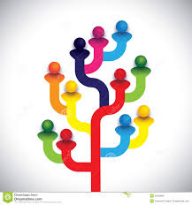concept tree of company employees working together as a team stock concept tree of company employees working together as a team