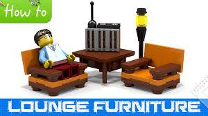 Lego Furniture How To Make Lego Lounge Furniture Basic Moc Youtube