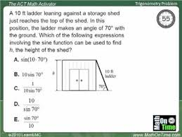 ACT Questions: Trigonometry (with worksheets, videos, games ...ACT Questions: Trigonometry (with worksheets, videos, games & activities)