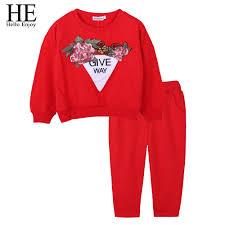 <b>HE Hello Enjoy</b> Girls Clothing Sets Fashion <b>Kids Children</b> Clothes ...