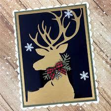 <b>Eastshape</b> Elk <b>Deer</b> Background Frame Metal Cutting Dies <b>New</b> ...