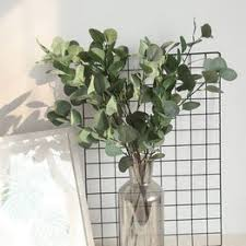 Artificial Plants Green Ginkgo Leaves Garden Home decor ... - Vova