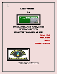 1 assignment on office automation types office information system submitted to mr advantages of office automation