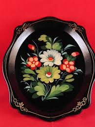 Vintage Russian hand painted tray | Tole Painted Trays | Pinterest ...