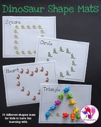 Free Fun <b>Hands</b>-On <b>Dinosaur Shape</b> Mats - 10 <b>shape</b> mats for kids ...