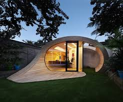 shoffice shed office is a garden pavilion containing a small office alongside garden storage space located to the rear of a terraced house in st johns backyard office pod cuts