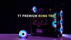 Обзор набора <b>вентиляторов Thermaltake Riing</b> Trio 12 LED RGB ...
