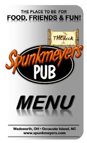spunkmeyers pub our food menu main menu front cover 2013 jpg