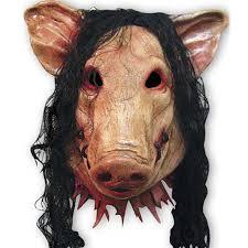 <b>1pcs</b> Animal <b>Scary</b> Masks <b>Pig Head</b> with Black Hair Latex Masks for ...