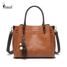 <b>FUNMARDI</b> Luxury Brand Handbags <b>Women</b> Bag <b>Vintage</b> Oil Wax ...