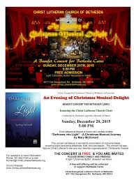 annual christmas choral concert christ evangelical lutheran 2015 traditional christmas concert poster ad