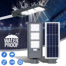 60W Solar Street <b>LED</b> Light PIR Motion Sensor <b>Radar Induction</b> Wall ...