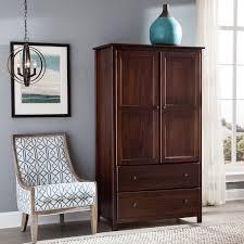 grain wood furniture shaker solid wood cherry finish 2 door armoire cherry wood furniture