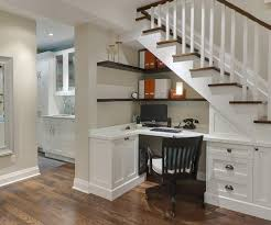 formal under stairs home office area homeoffice homeoffice interiordesign understair