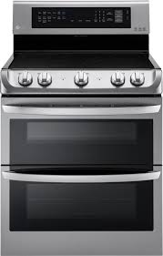LG 7.3 Cu. Ft. <b>Electric</b> Self-Cleaning Freestanding <b>Double</b> Oven ...