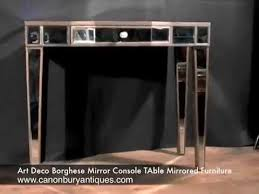 art deco borghese mirror console table mirrored furniture art deco mirrored furniture