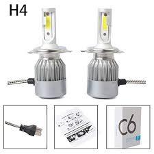 TOOGOO New 2pcs C6 <b>LED</b> Car Headlight Kit COB <b>H4</b> 36W ...