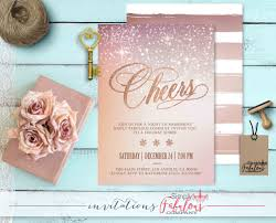 rose gold sparkle cheers holiday party invitation christmas party rose gold sparkle cheers holiday party invitation christmas party invitation office party invitation