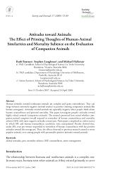 attitudes toward animals society and animals 17 2009 72 89 brill nl