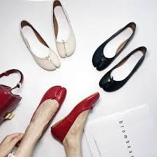 Cakucool New Genuine <b>Leather</b> Tabi Ninja Shoes <b>Woman Split Toe</b> ...