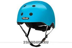 Детский защитный <b>шлем Melon</b> Cyaneon голубой неон XL-XXL в ...