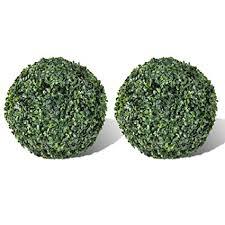 vidaXL 2x <b>Boxwood Ball</b> 27cm <b>Artificial Leaf Topiary Ball</b> Outdoor ...