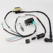 popular atv wiring harness buy cheap atv wiring harness lots from 50cc 70cc 90cc 110cc 125cc cdi ignition coil ngk spark plug wire harness wiring set atv