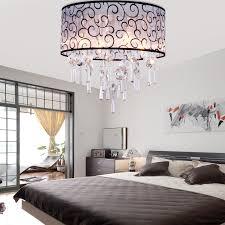 Modern Lights For Bedroom Elegant Transparent Crystal Chandelier Pendant Light With 4 Lights