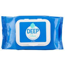 <b>Салфетки для снятия</b> макияжа `A`PIEU` `DEEP CLEAN` 25 шт ...