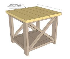 ana white rustic x end table diy projects build your own rustic furniture