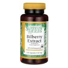 <b>Bilberry Extract</b> - 60 mg <b>Standardized</b> Supplement - Buy Online in ...