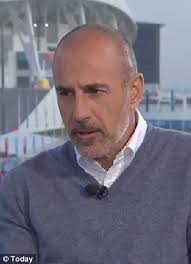Matt Lauer. It's a set-up! Mr Lauer (right) causally asked an unsuspecting Costas when he's planning to head home. Upon hearing that the ailing newsman ... - article-0-1BB63BB900000578-138_306x423