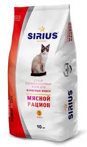 <b>Сухой</b> полнорационный <b>корм</b> для взрослых кошек Мясной ...